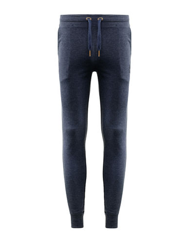 Kappa Slim-Fit French Terry Fleece Pants-BLUE-X-Large 88322583_BLUE_X-Large