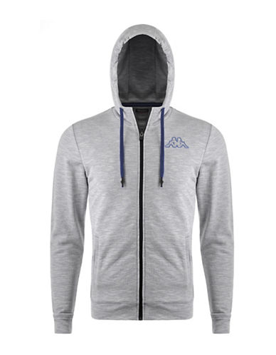 Kappa Slim-Fit Training Hoodie-GREY/BLUE-Large 88322512_GREY/BLUE_Large