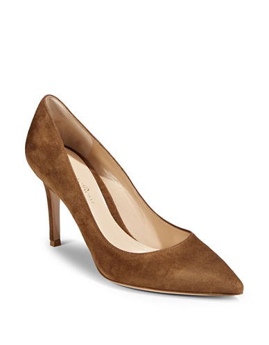 Gianvito Rossi Texas Suede Pump-DARK BEIGE-EUR 37.5/US 7.5