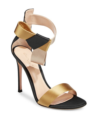 Gianvito Rossi Bow Detail Ankle-Strap Pumps-BLACK-EUR 36/US 6