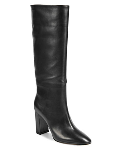 Gianvito Rossi Leather Knee-High Boots-BLACK-EUR 38/US 8