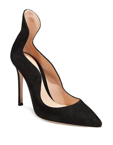 Gianvito Rossi Wave Leather Pumps-BLACK-EUR 38/US 8