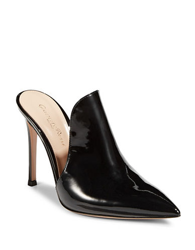 Gianvito Rossi Radiant Mule Pumps-BLACK-EUR 38/US 8