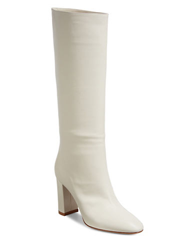 Gianvito Rossi Leather Knee-High Boots-OFF WHITE-EUR 40/US 10