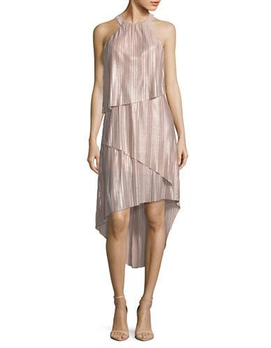 Laundry By Shelli Segal Asymmetric Foil Cocktail Dress 89787699