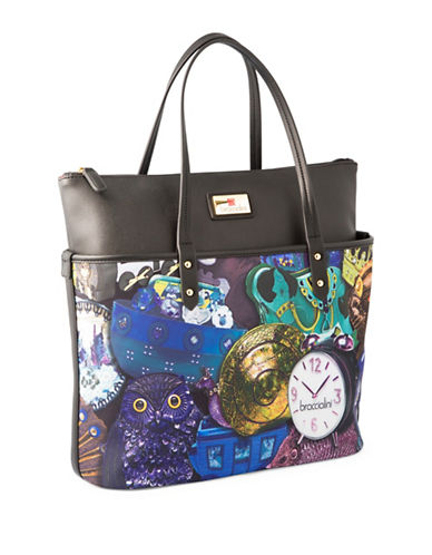 Braccialini Stefania Medium Shopper Bag-BLUE-One Size