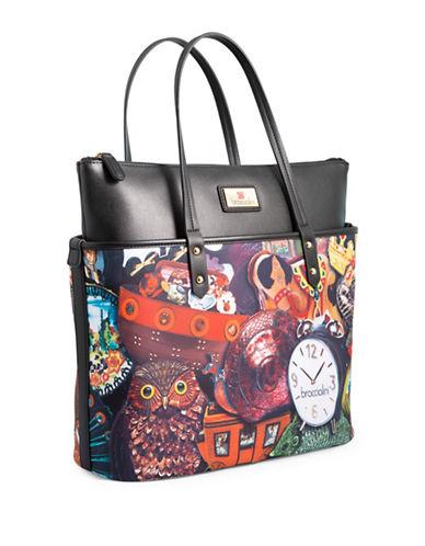 Braccialini Stefania Medium Shopper Bag-RED-One Size