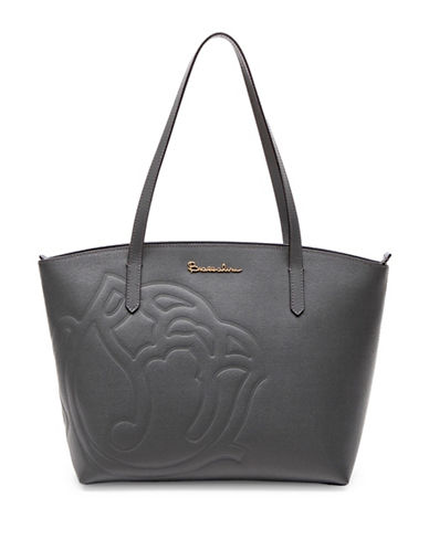 Braccialini Ninefea Calfskin Leather Tote-GREY-One Size