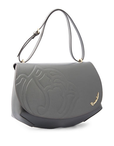 Braccialini Ninfea Calfskin Leather Satchel-GREY-One Size