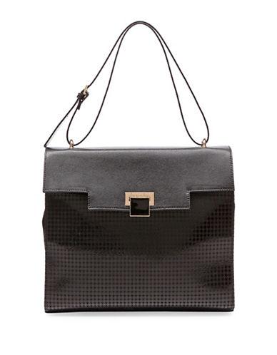 Braccialini Linda Sequin Suede Handbag-BLACK-One Size