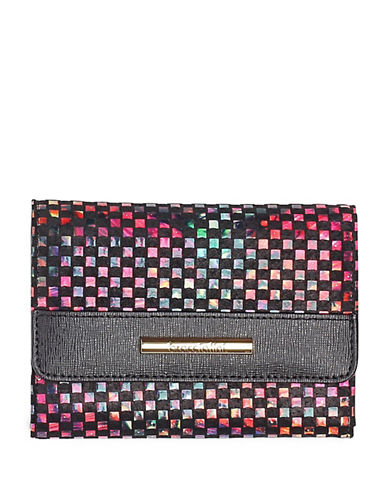 Braccialini Linda Printed Small Continental Wallet-BLACK-One Size