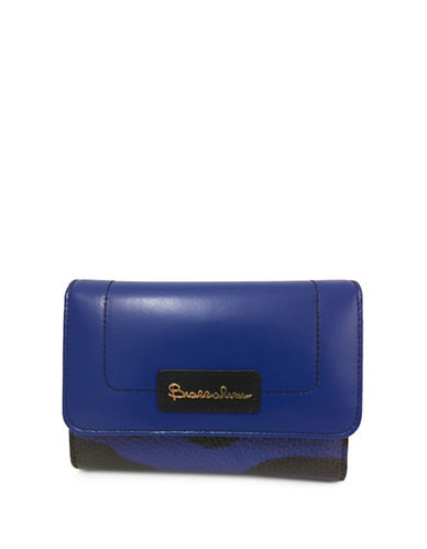 Braccialini Candia Medium Continental Leather Wallet-BLUE-One Size