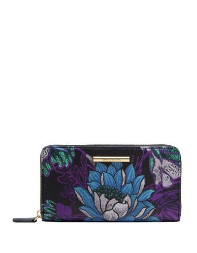 Braccialini Katia Zip Around Leather Wallet-GREY-One Size