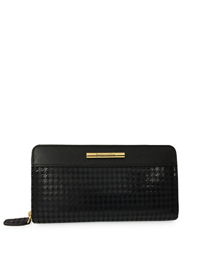 Braccialini Katia Zip Around Leather Wallet-BLACK-One Size