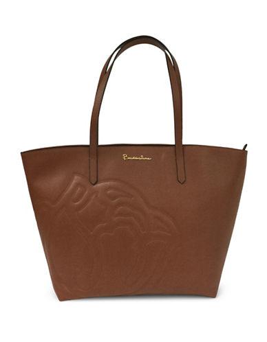 Braccialini Ninefea Calfskin Leather Shopper-BROWN-One Size