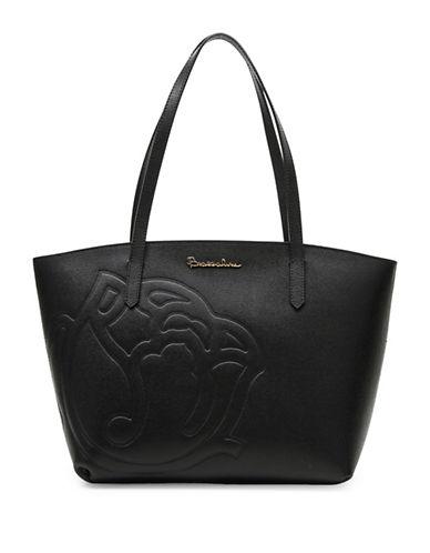 Braccialini Ninefea Calfskin Leather Tote-BLACK-One Size 88883752_BLACK_One Size