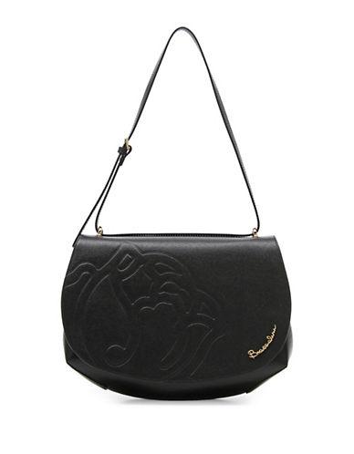 Braccialini Ninfea Calfskin Leather Satchel-BLACK-One Size