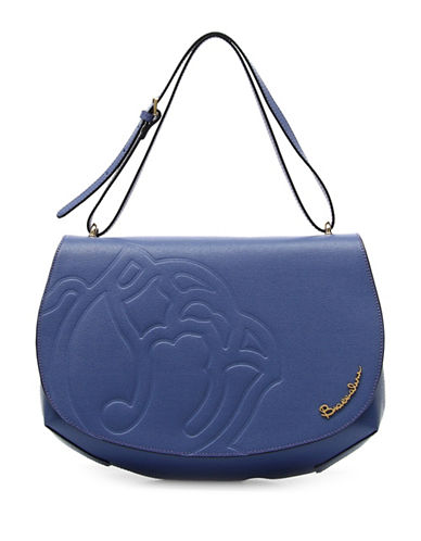 Braccialini Ninfea Calfskin Leather Satchel-BLUE-One Size