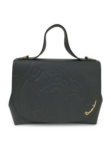 Braccialini Ninfea Calfskin Leather Satchel-GREY-One Size
