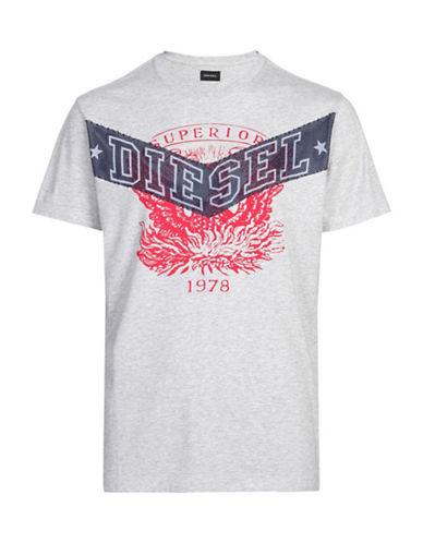 Diesel Diego GO T-Shirt-GREY-Small 88439347_GREY_Small
