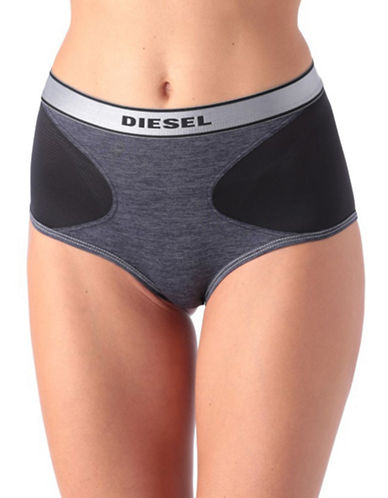 Diesel Logo High Briefs-DENIM-X-Small 88453045_DENIM_X-Small