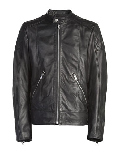 Diesel Marton Leather Moto Jacket-BLACK-Large 88439192_BLACK_Large