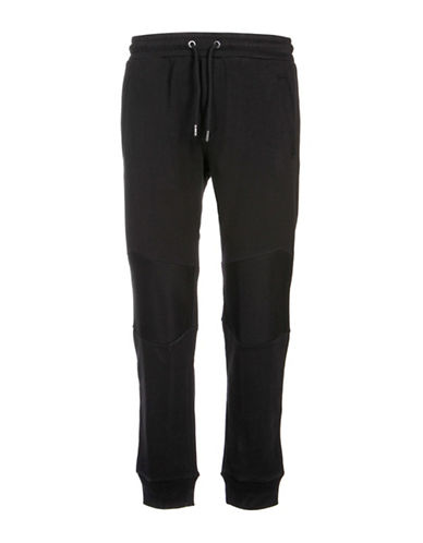 Diesel Soul Mesh Lined Sweatpants-BLACK-Medium 88439196_BLACK_Medium