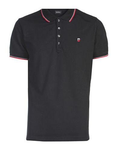 Diesel Stripe-Accent Polo Shirt-BLACK-Small 88439218_BLACK_Small