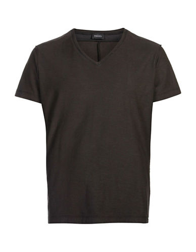 Diesel T-Court V-Neck T-Shirt-BLACK-XX-Large 88871062_BLACK_XX-Large