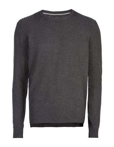 Diesel Bonis Knitwear Cotton Sweater-GREY-XX-Large 88439240_GREY_XX-Large