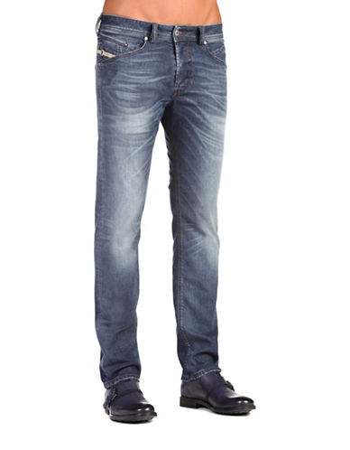 Diesel Belther Distressed Tapered Jeans-DENIM-29X32