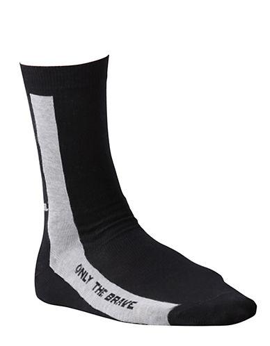 Diesel Ray Crew Socks-BLACK-Large 88657158_BLACK_Large