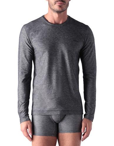 Diesel UMTEE-Jody Heathered T-Shirt-BLACK-Large 88689250_BLACK_Large