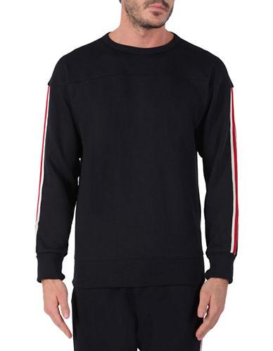 Diesel Striped Cotton Sweatshirt-BLACK-Large 88464067_BLACK_Large