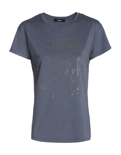 Diesel Embellished Graphic T-Shirt-GREY-X-Small 88726866_GREY_X-Small