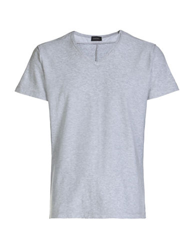 Diesel T-Court V-Neck T-Shirt-GREY-Large 88871070_GREY_Large