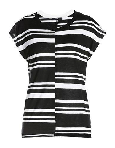 Diesel Afra Striped Wool Blend T-Shirt-BLACK/WHITE-Large 88613551_BLACK/WHITE_Large