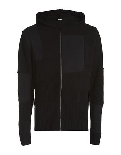 Diesel K-Paris Wool-Blend Hoodie-BLACK-X-Small 88600983_BLACK_X-Small