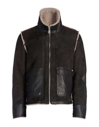Diesel L-Foot Leather Jacket-GREY-Small 88602072_GREY_Small