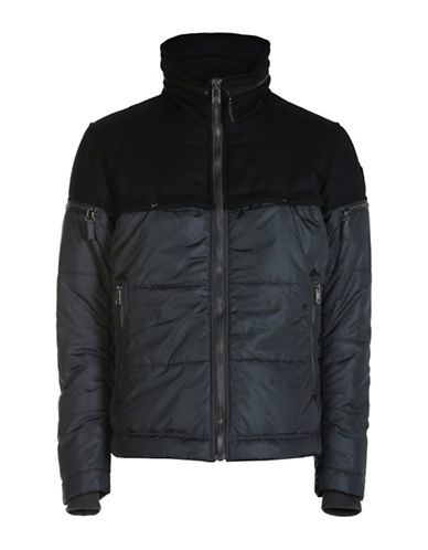 Diesel Twill Yoke Stand Collar Jacket-GREY-XX-Large 88600931_GREY_XX-Large