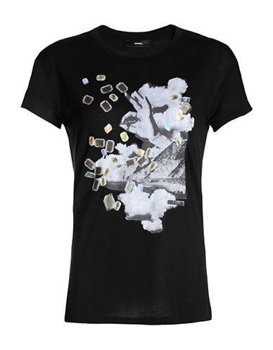 Diesel Smile-G Quadrichromy Graphic T-Shirt-BLACK-XX-Small 88783095_BLACK_XX-Small