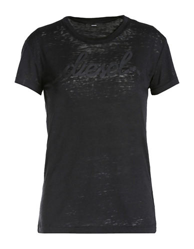 Diesel T-Sully-Al Script Logo T-Shirt-BLACK-Small 88613597_BLACK_Small