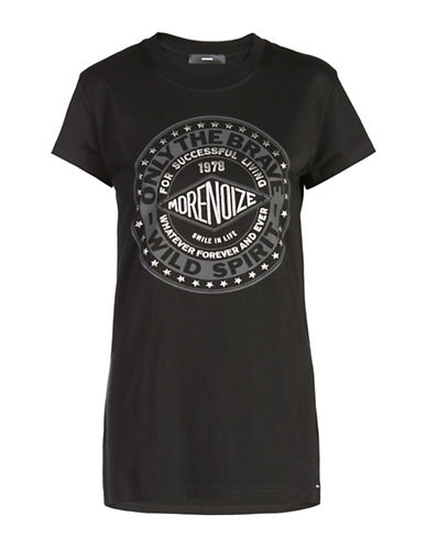 Diesel Graphic T-Shirt-BLACK-Small 88613587_BLACK_Small