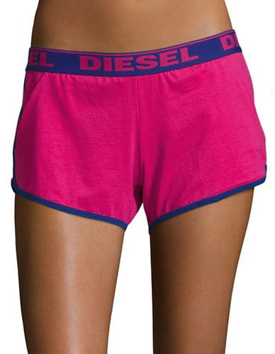 Diesel P-UFLB Yukin Stretch Logo Lounge Shorts-PINK/BLUE-Small 88452966_PINK/BLUE_Small