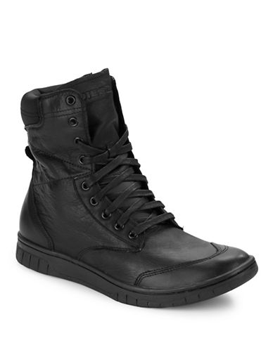 Diesel Boulevard Hi-Top Sneakers-BLACK-12