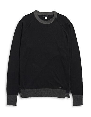 Diesel K-Ante Knit Sweater-BLACK-Medium 88600892_BLACK_Medium
