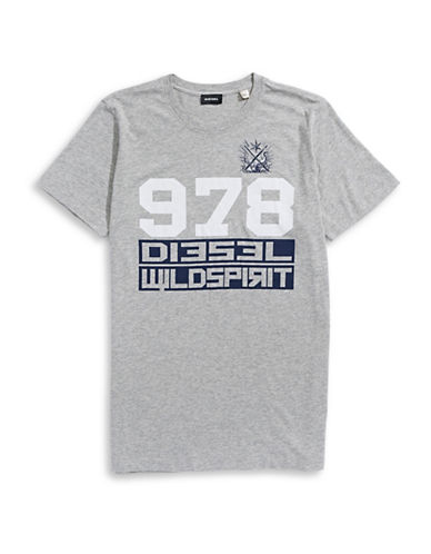 Diesel Diego Graphic T-Shirt-GREY-X-Small 88601063_GREY_X-Small