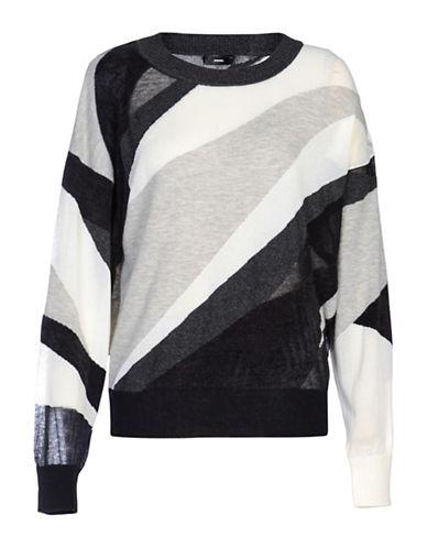 Diesel M-Blanca Colourblock Pullover-BLACK-Small 88901293_BLACK_Small