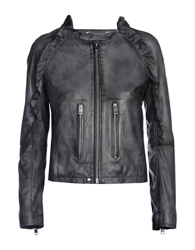 Diesel Heze Lambskin Leather Jacket-BLACK-Large 88901188_BLACK_Large