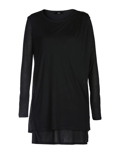 Diesel D-Ind Blended Dress-BLACK-Small 88901279_BLACK_Small